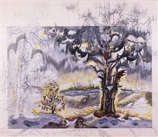 dawn of spring [c. 1960s] by charles ephraim burchfield